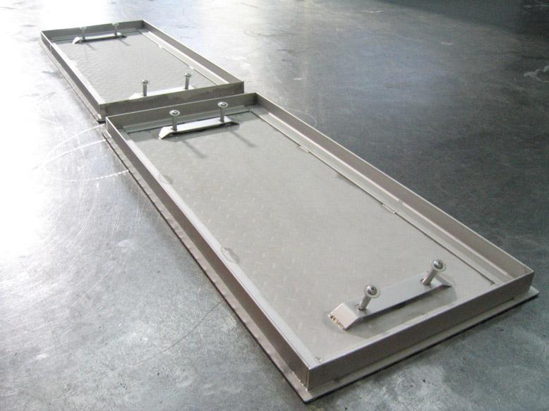 縞鋼板 溝フタの詳細画像1